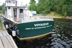 stern view, the Voyageur, port of International Falls