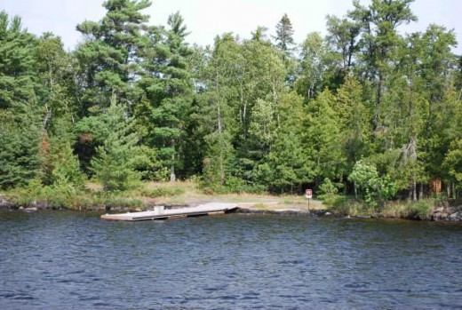 Day use Picnic Site on Rainy lake