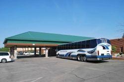boarding the bus at International Falls