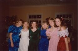 At my private party . . . I'm the one in the white dress.