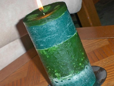Layered Candles (Green i love..)
