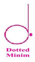 This is a 3 beat note called a dotted minim or dotted half note.