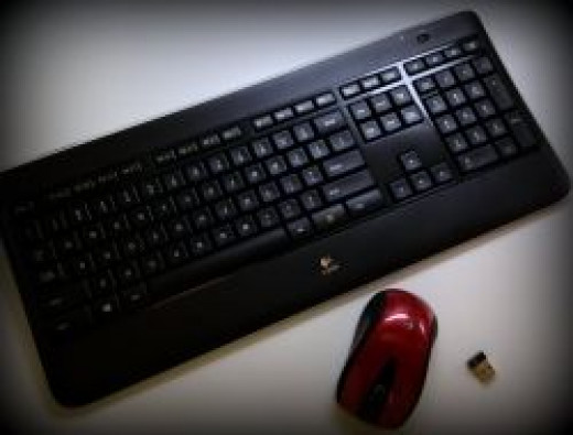 This is my new keyboard and mouse
