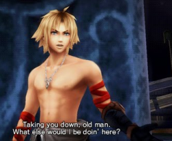 Tidus in Dissidia Duodecim: NO SHIRT?!