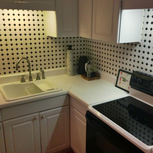 My tiny kitchen.