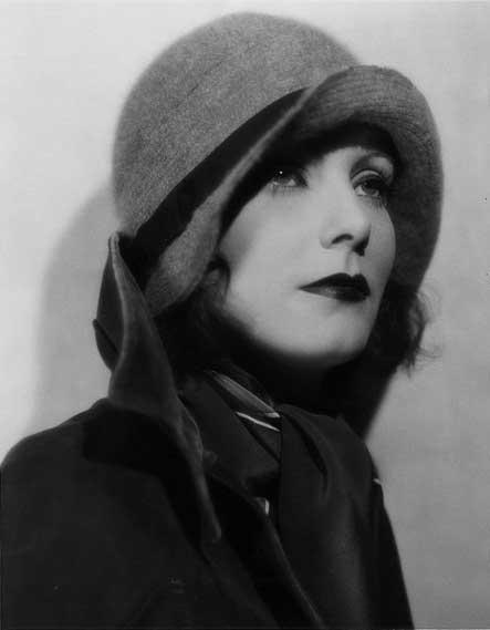 Greta Garbo wearing a simple cravat