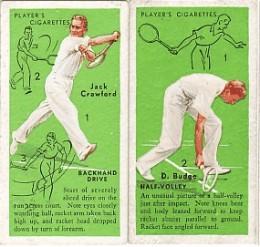 Jack Crawford and Donald Budge commemorative cigarette cards on  internationalhouseofcards.com