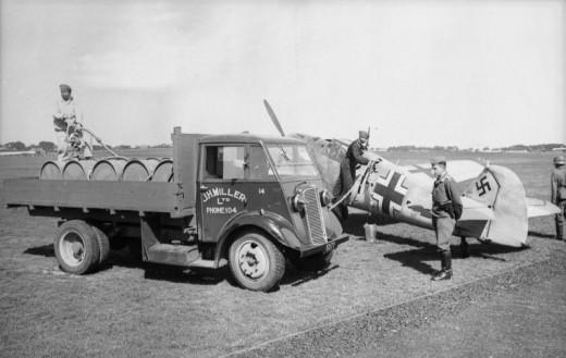 British truck and German plane.