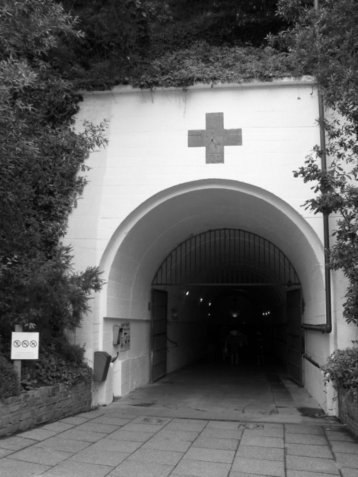 The entrance to the underground hospital.