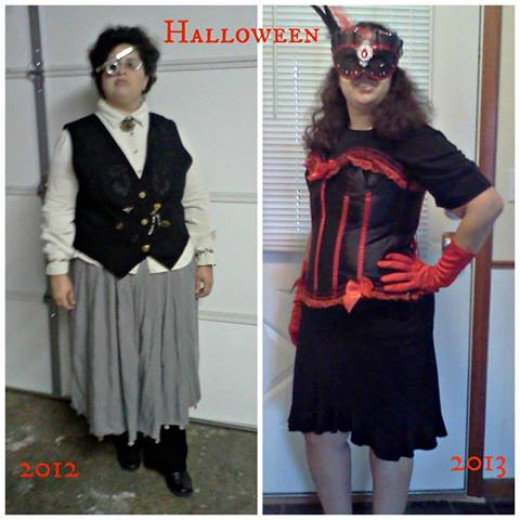 Can you see the difference between Halloween 2012 and now?