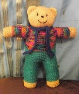 Knitted bear (c) Kristen Bailey