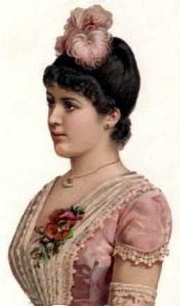 Victorian woman with hair up
