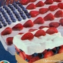 4th of July Party Flag Cake Recipe ★