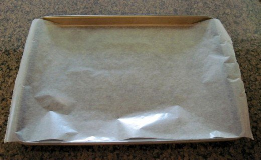 Place Wax Paper on a Cookie Tray