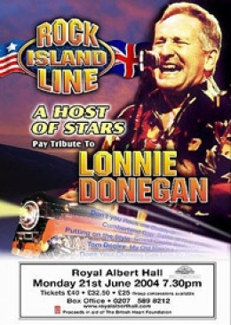 poster for lonnie donegan tribute concert