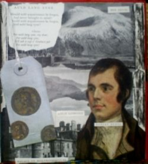 collage in fine art, using vintage images