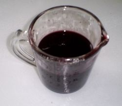 Jus (syrup) made fro Spiced red wine