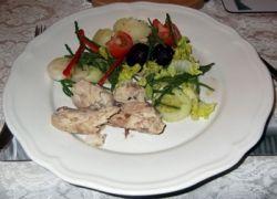 mackeral with samphire salad