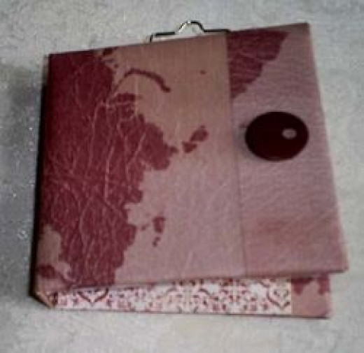 hand made book for atc