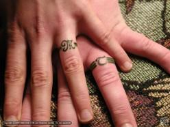 Wedding Ring Tattoos Tribal