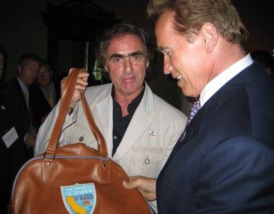 Arnold Schwarzenegger Shops at the Roots store in Beverly Hills