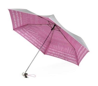 Totes Rihanna Sparkle Slender Umbrella With Lyrics