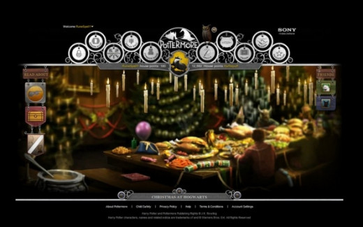 Pottermore Christmas at Hogwarts