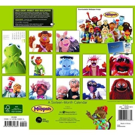 Back of The Muppets 2013 calendar.