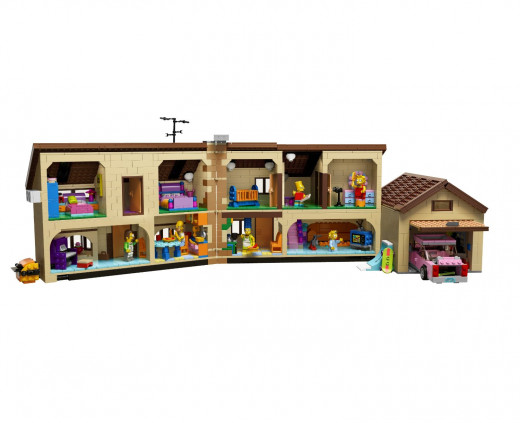 Here's a cross section of the interior of the house.  I love the television in the livingroom!