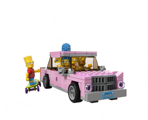 The Simpsons car, the pink sedan or the family sedan as it is also known.