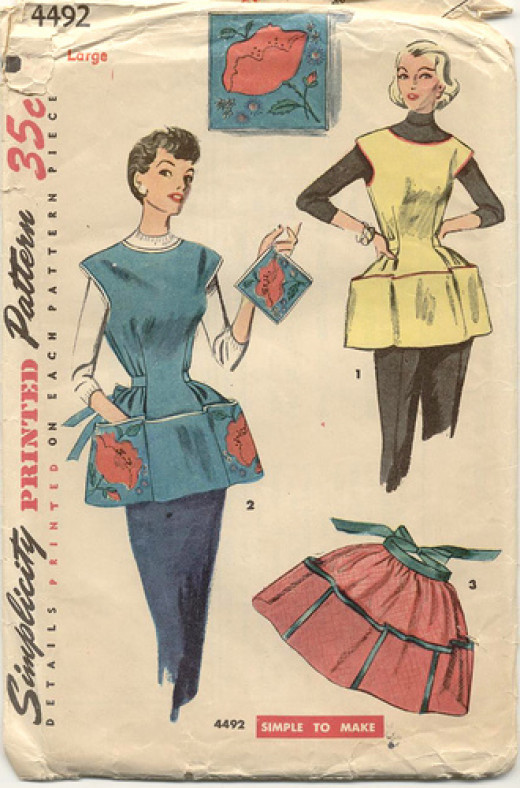 Vintage Simplicity Apron Pattern 4492