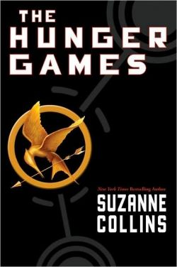 The Hunger Games Book Cover with the Mockingjay
