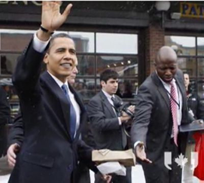 President Obama getting a Beaver-Tail Photo credit: The Chronicle Herald