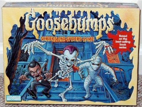 Goosebumps Shrieks and Spiders and Terror in the Graveyard Board Games