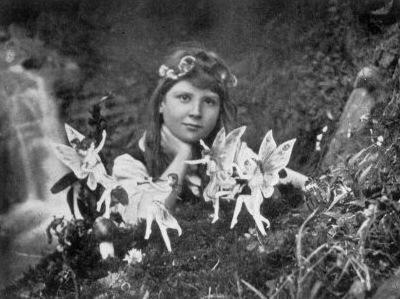 Cottingley Fairies Photographic Poster Print