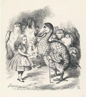 Alice in Wonderland and the Dodo Bird by John Tenniel