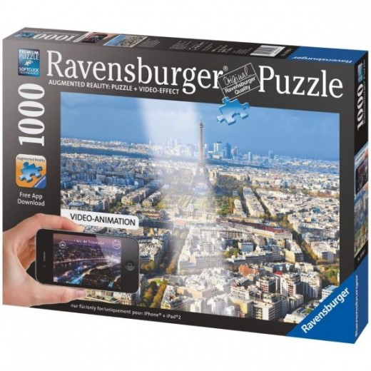 Over the Rooftops of Paris Ravensburger Augmented Reality Jigsaw Puzzle