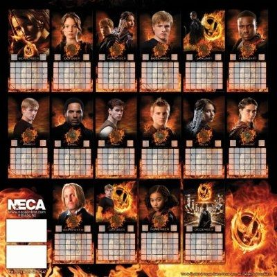 Back of The Hunger Games 2013 Calendar