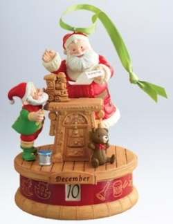 Hallmark's Countdown To Christmas Calendar Ornament