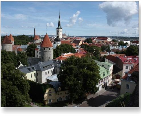 Tallinn, Estonia Medieval Village Postcard