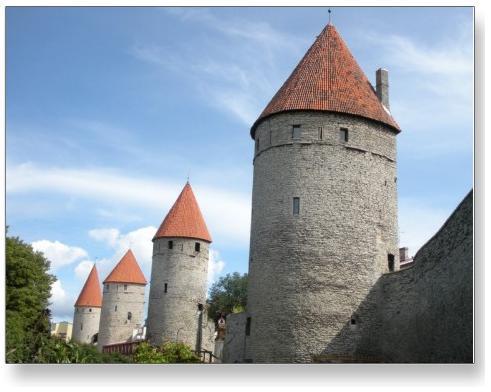 Tallinn, Estonia Medieval Turret Postcard