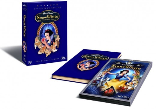 Snow White and the Seven Dwarfs Collector's Book and Blu-ray Movie Set