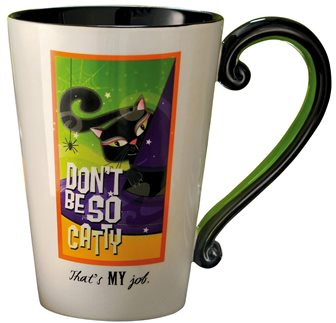 Don't Be So Catty Black Cat Halloween Mug