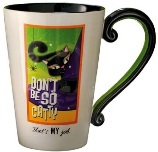 Don't Be So Catty Black Cat Halloween Mug
