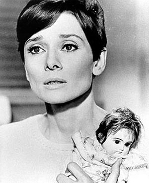 Audrey Hepburn in Wait Until Dark with Doll