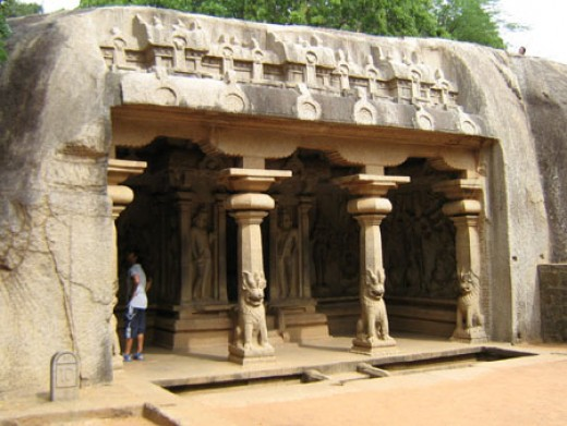 Fig. 1 A Rock Cut Temple in Mamallapuram