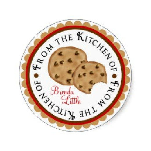 "Personalized ""From the Kitchen of"" stickers."
