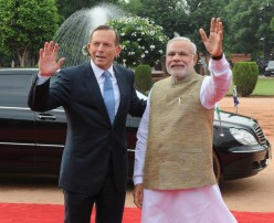 Australian Prime Minister Tony Abbot In India