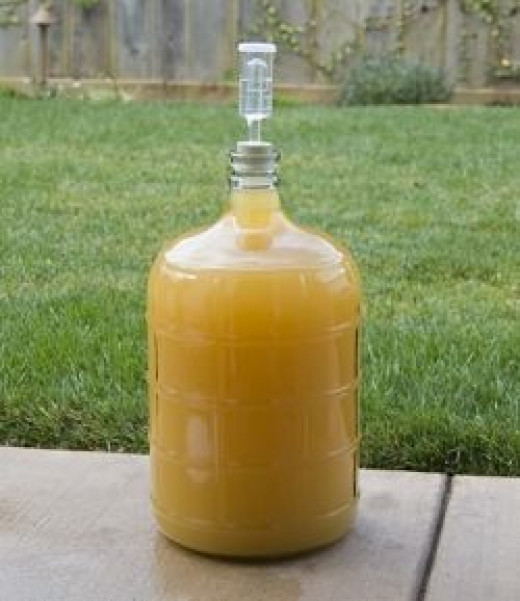 carboy full of mead