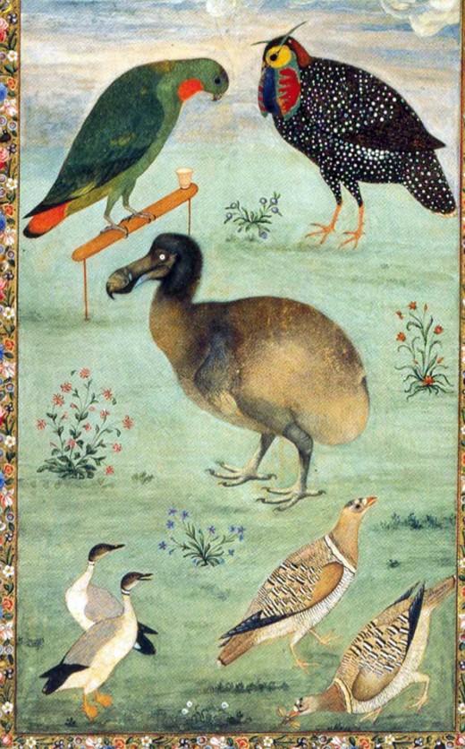 Painting by Ustad Mansur, circa 1625, public domain